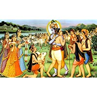 Tallenge - Indian Art - Lord Krishna Unites With Sudama At Vrindavan- Krishna Collection - Small Size Unframed...