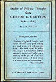 img - for Studies of Political Thought: From Gerson to Grotius, 1414-1625 (Key Texts) book / textbook / text book