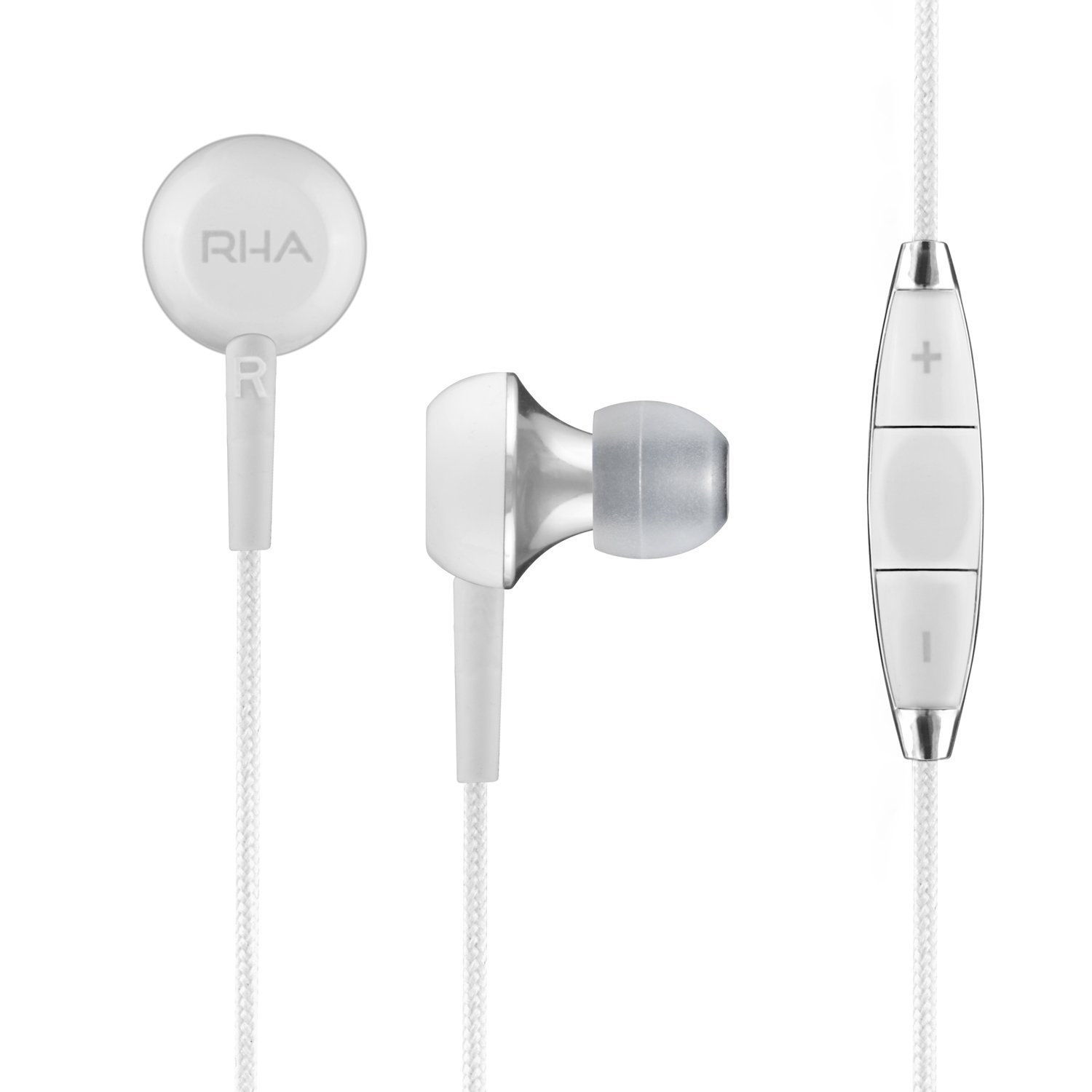все цены на RHA MA450i Noise Isolating In-Ear Headphone with Remote and Microphone онлайн