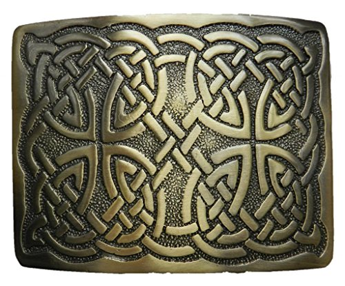 Scottish Kilt belt buckle #29 Antiqued Brass Finish
