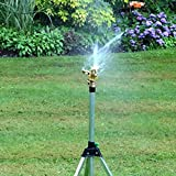 Generic New Garden Irrigator 1/2 Inch Connector Copper Rotate Rocker Arm Water Sprinkler Spray Nozzle Watering...