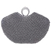 Apple Shape Ring Clutch Purse Bling Rhinestone Crystal Clutch Bag