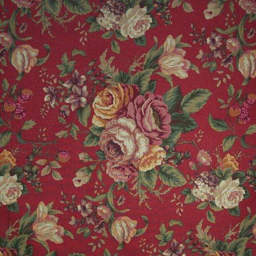 "Amazon.com : 100"" X 54"" Fabric Emmeline Red Garnet, Raymond Waites"