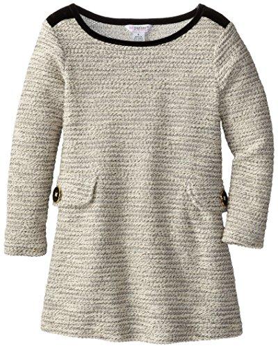kc parker Big Girls' Girls Metallic Novelty Knit Sweater Dress