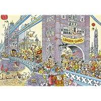 Wasgij 17128 - Puzzle con diseño de puente de la Torre de Londres (1000 piezas)