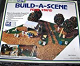 Fruit Stand Counter & Fruit Trees & 5 Figures & 35 Signs & Landscaping H.O. Scale Kit by Life Like Train Layout