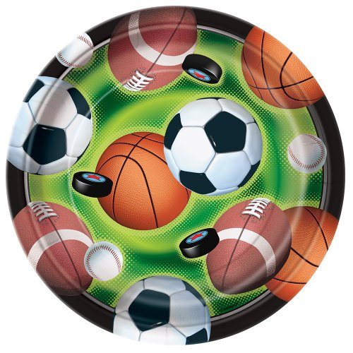 Action Sports Dessert Plates, 8ct