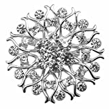 Zaki Lot 25pcs Silver Color Sparking Rhinestone Wedding Bridal Crystal Brooches Brooch Pins Bouquet Kit