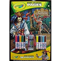Crayola Disney Pirates Giant Coloring Pages with Crayola Sticks