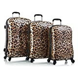 Heys Exotic Leopard Fashion Spinner 3-piece Luggage Set