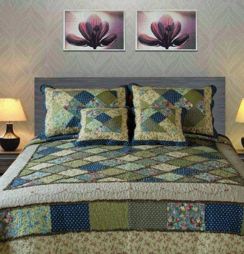 Tache Calming Floral Spring Shower Quilt Set front-917764