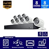 Samsung Wisenet SDH-B74081BN 8 Channel 1080P Full HD DVR Video Security System with 2TB Hard Drive and 8 1080p Weather Resistant Bullet Cameras (SDC-9443BC) - (Certified Refurbished) (Color: Black)