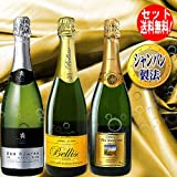 第4弾 厳選 シャンパン製法(スペイン-スパークリング・ワイン:カバ) 泡辛口白3本セット カヴァ サンホセ白 ベリスコ ロメロ