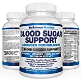 Blood Sugar Support Supplement - Control Blood Glucose & Weight Loss - 20 HERBS & Multivitamin containing Multiple Vitamin Mineral Combinations with Alpha Lipoic Acid & Cinnamon - BioScience Nutrition