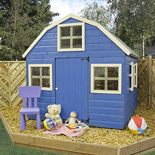 Childrens wooden dutch barn playhouse 6 x 6 ogd084 at the for Dutch playhouse