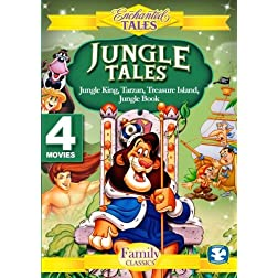 Jungle Tales (4 Disc Set) - Tarzan, The Jungle King, Jungle Book,  Treasure Island