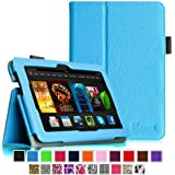 """Fintie Amazon Kindle Fire HDX 7 Folio Case Cover - Auto Sleep/Wake (will only fit Kindle Fire HDX 7"""" 2013), Blue"""