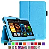 "Fintie Amazon All-New Kindle Fire HDX 7 Folio Case Cover - Auto Sleep/Wake (will only fit Kindle Fire HDX 7"" 2013), Blue"