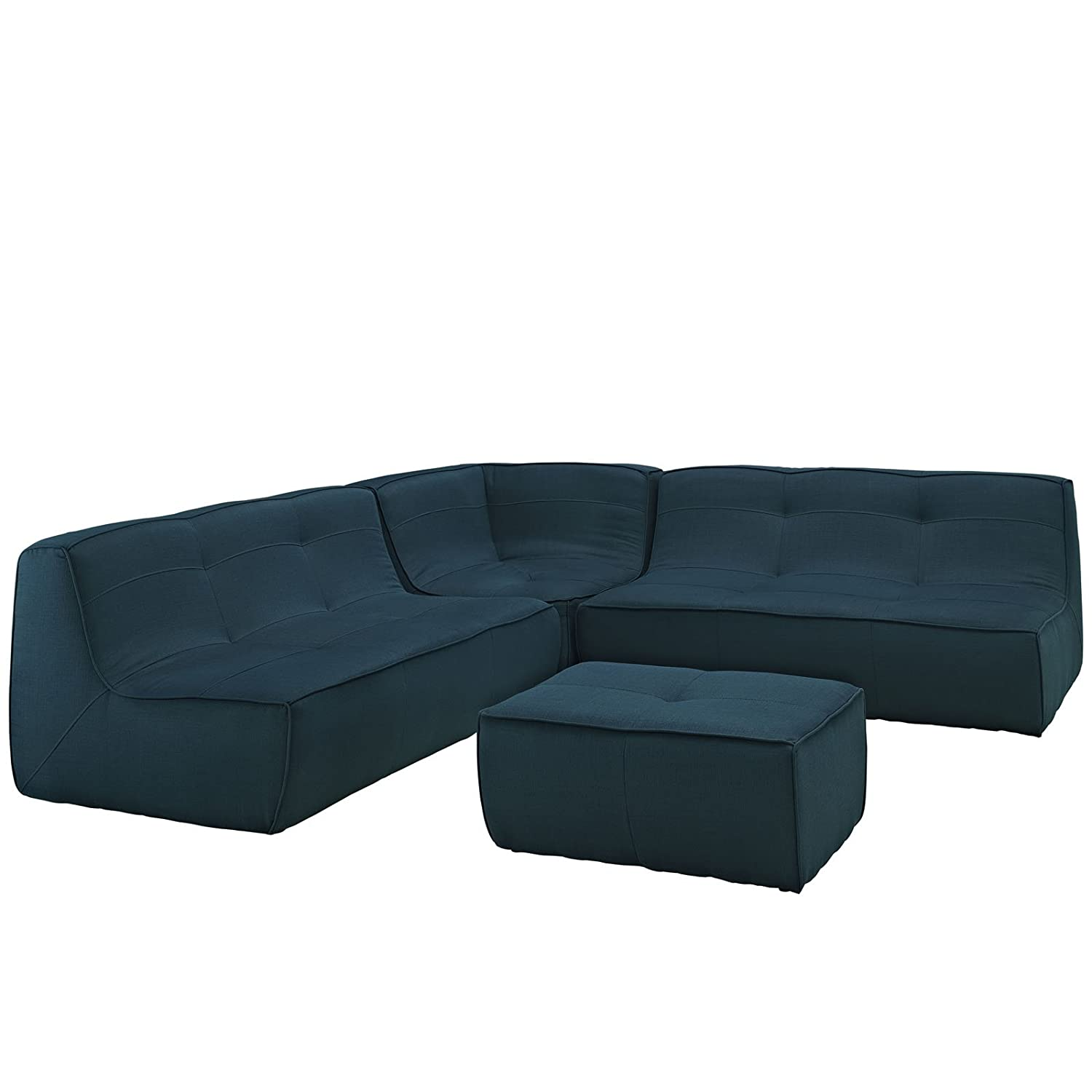 Modway Align 4 Piece Upholstered Sectional Sofa Set EEI-1288-AZU