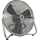 TPI Corporation CF-20 Commercial Workstation Floor Fan, 20″ Diameter, 120 Volt
