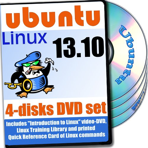 Ubuntu 13.10, 4-discs DVD Installation and Reference Set