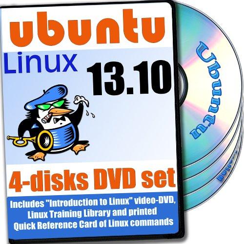 Ubuntu 13.10, 4-discs DVD Installation and Reference Set