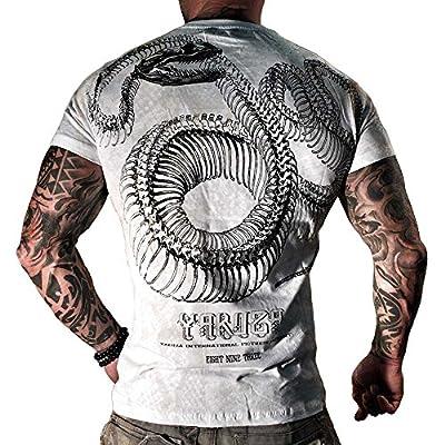 Yakuza T-Shirt Herren V-Neck TSB 660 Yakuza Snake weiss
