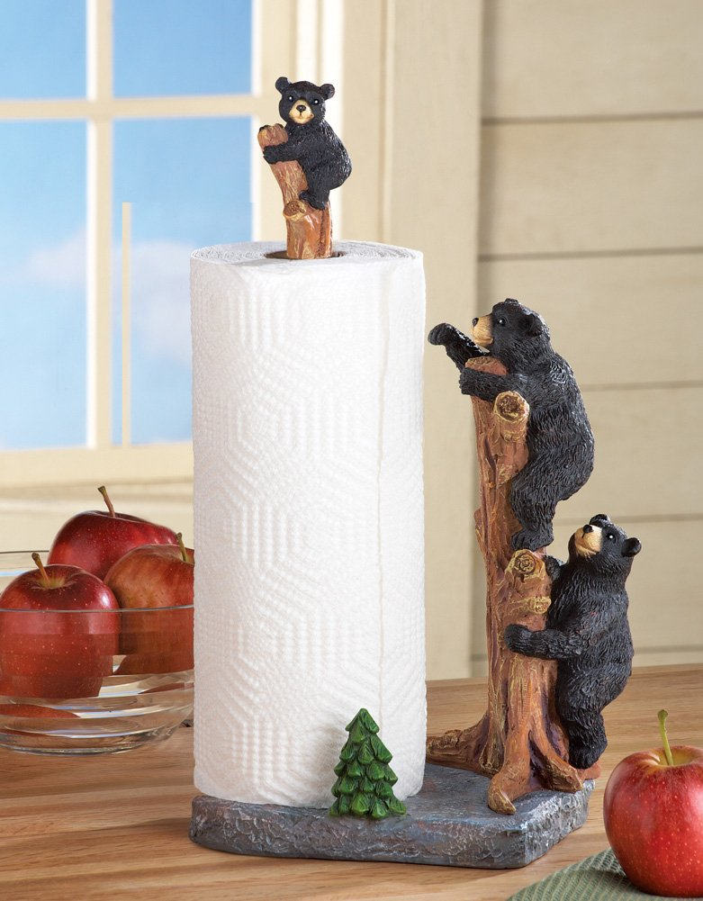 Northwoods Bears Paper Towel Holder  image