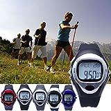 Auralum® Montre Cardiofréquencemètre Montre Gym - Surveille les battements cardiaques Sport Chronomètre (Argent)