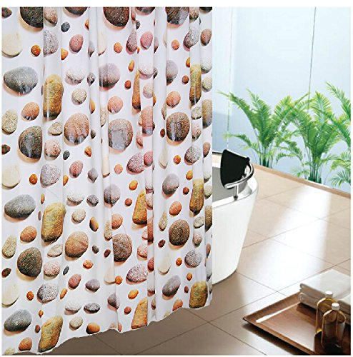 Eforgift Eco-Friendly X-Long Modern Stone 18 Gauge Peva Non-Mildew /Waterproof Shower Curtains Decor Bathroom Curtain 72 Inch By 78 Inch front-626147