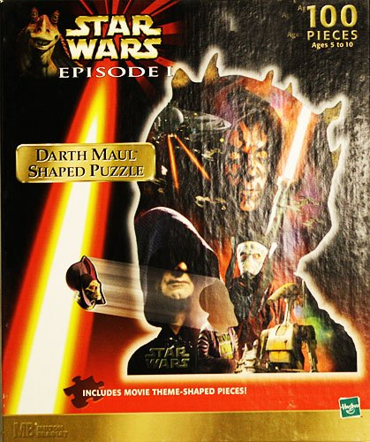Star Wars Episode I Darth Maul Shaped Puzzle 100 Pieces