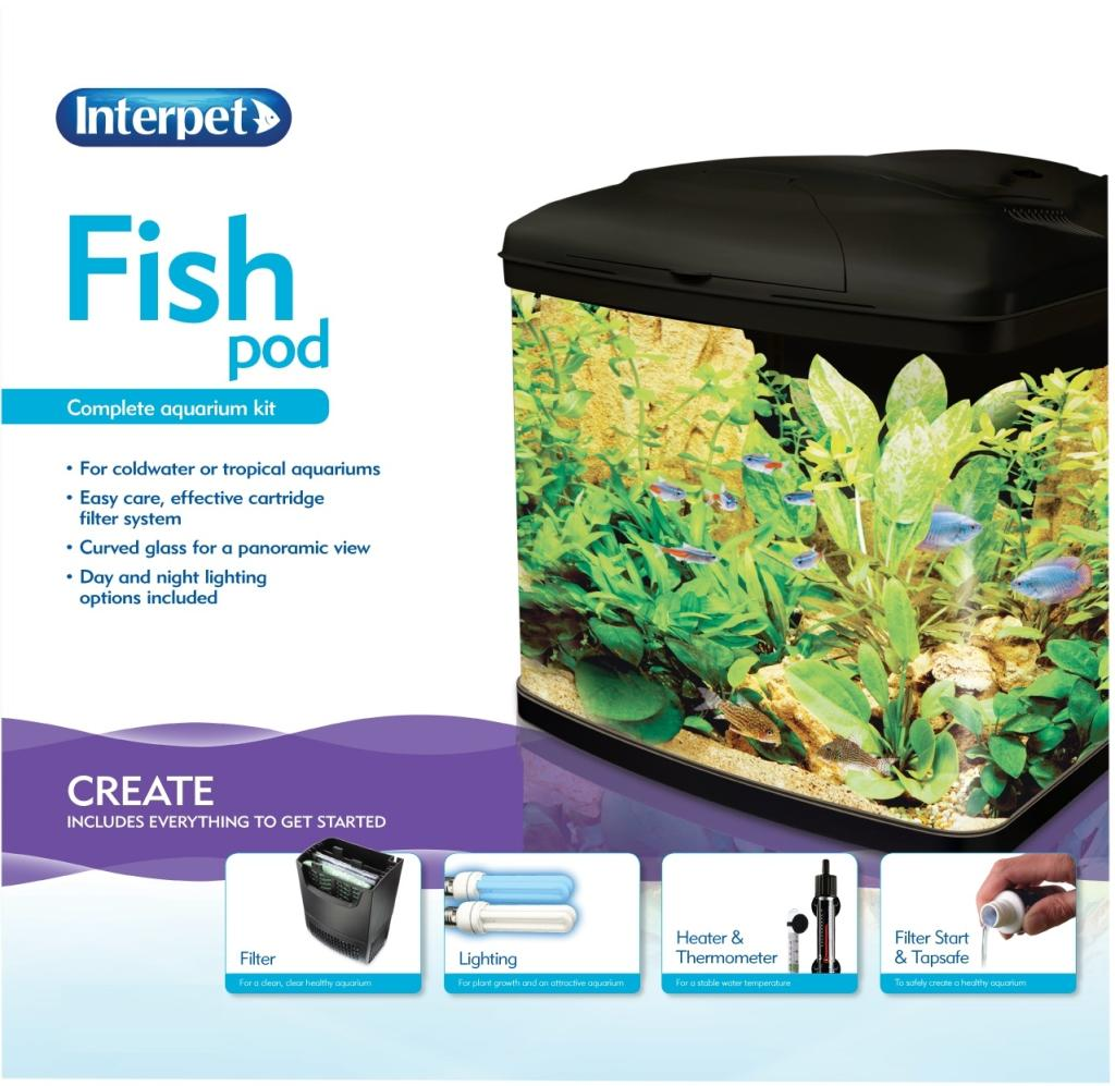 Interpet insight glass aquarium premium kit 40 litre for Amazon fish tank filter