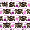 "Dachshunds Gift Wrap ""Here Come the Girls"" 2 Sheets & 2 Tags"