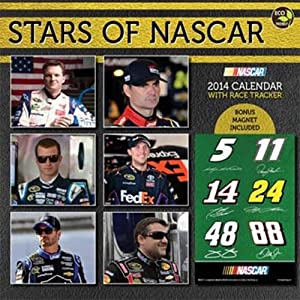 2014 Stars of NASCAR 12 x 12 Deluxe Wall Calendar -14-1610 by Brickels