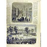La Impresión Antigua de la Calle 1863 de México Inunda a Franceses del Honor de la Legión de Forey