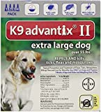 Bayer Advantix II, Extra Large Dogs, Over 55-Pound, 4-Month