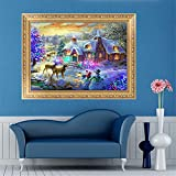 MEXUD-Cross Stitch with DIY 5D Diamond Embroidery Painting Christmas Night for Home Decor Craft