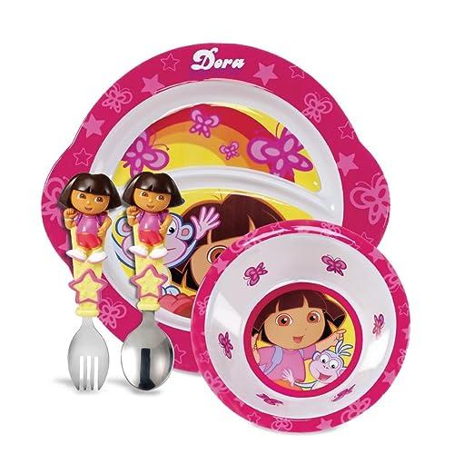 Munchkin 朵拉的大冒险 儿童餐具,$11.34