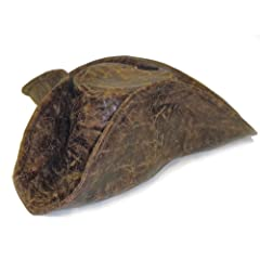 Brown Leatherette Tri-fold Pirate Hat Costume Accessory
