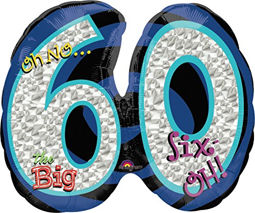 "Anagram International Oh No! Birthday Shape 60 Balloon, 21 by 26"", Multicolor"