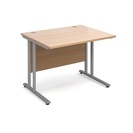 Bimi rettangolare 1000x 800, scrivania in legno di faggio