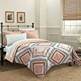 Loft Style Haight Ashbury Comforter Set, Queen, Coral