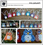 Owl Garland - Crochet Pattern #123 for Applique - Embellishment