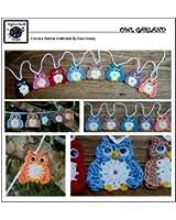 Owl Garland - Crochet Pattern #123 for Applique - Embellishment