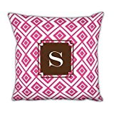 Dabney Lee Lucy Square pillow with Single Initial, O, Multicolored