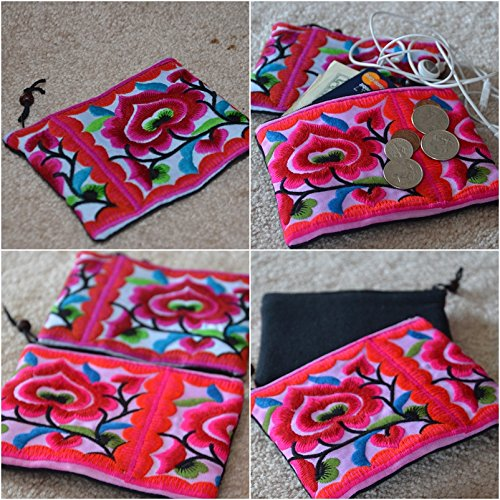 Handmade coin purse Vintage Hmong tribe