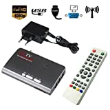 Hanbaili (EU Plug)VGA DVB-T2 TV BOX, HDMI HD 1080P VGA DVB-T2 TV Box VGA AV CVBS Tuner Receiver With Remote Control