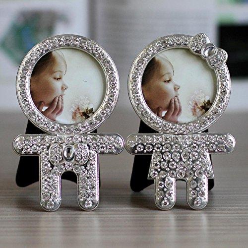 YanCui@ 2-Zoll-Metall besetzte Bilderrahmen, Baby Foto ornament , 2 inches (one to 2)