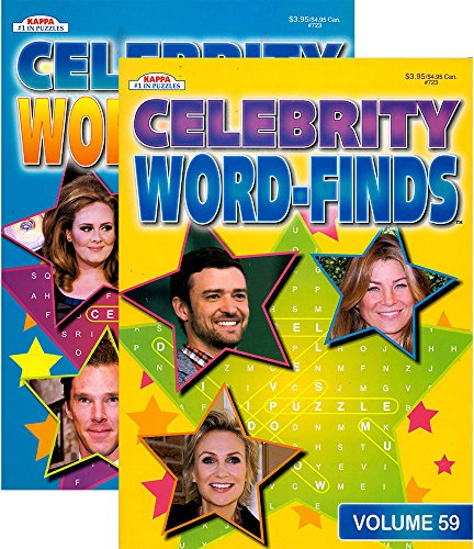 KAPPA Celebrity Word Finds Puzzle Book - 1