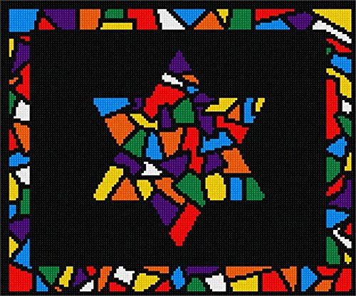 Tallit Glass Borders Star Needlepoint Kit